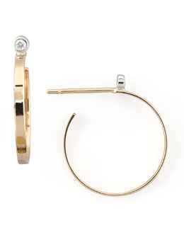 Lana Petite Gold Diamond Hoop Earrings