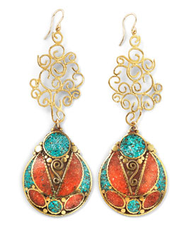 Devon Leigh Tribal Chandlier Earrings