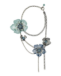 Lanvin Multi-Strand Flower Necklace
