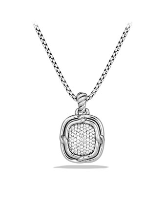 Labyrinth Medium Pendant with Diamonds