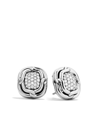 Labyrinth Earrings with Diamonds