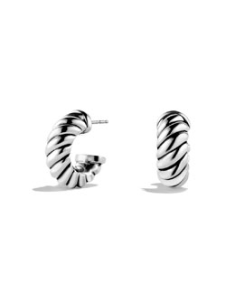 David Yurman Thoroughbred Shrimp Earrings, 8.2 x 20mm