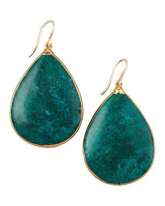 Teardrop Chrysocolla Earrings