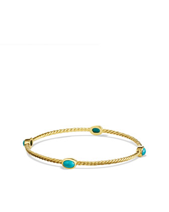 Cable Classics Bangle Bracelet, Turqoise
