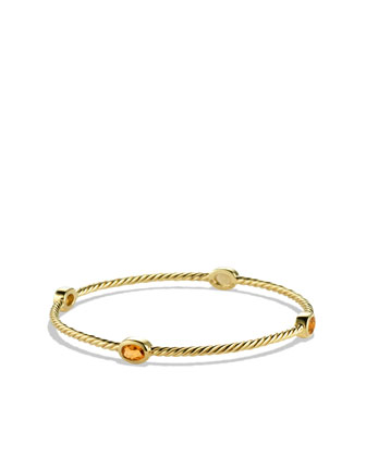 Color Classics Four-Station Bangle with Citrine in Gold