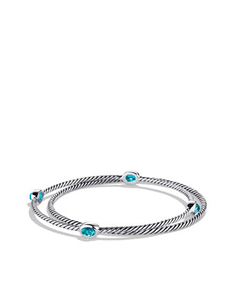 Color Classics Bangles with Blue Topaz