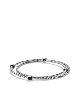 David Yurman Cable Classics Bracelet, Black Onyx