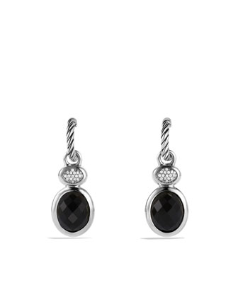 Renaissance Drop Earrings with Black Onyx and Diamonds
