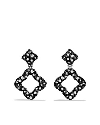 Quatrefoil?? Double-Drop Earrings with Diamonds
