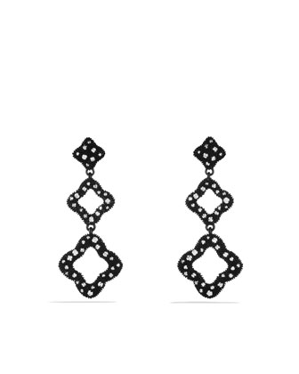Quatrefoil?? Triple-Drop Earrings with Diamonds