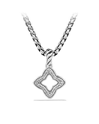 Quatrefoil Pendant with Diamonds