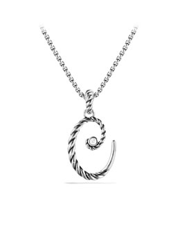 David Yurman Cable Collectibles Initial Charm, C, Diamond