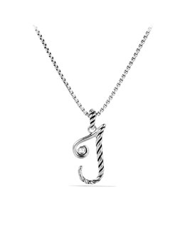 David Yurman Cable Collectibles Initial Charm, J, Diamond