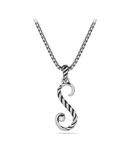 David Yurman Cable Collectibles Initial Charm, S, Diamond