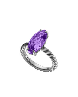 David Yurman Color Classics Ring, Amethyst, 18x8mm