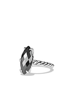 David Yurman Color Classics Ring, Hematite, 18x8mm