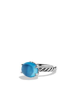 David Yurman Color Classics Ring, Blue Topaz, 12x10mm