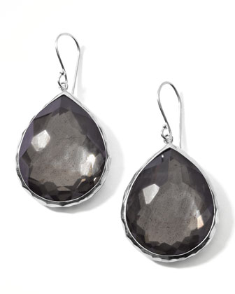 Pyrite Doublet Drop Earrings