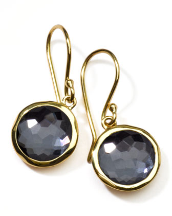 Hematite Lollipop Earrings, Mini