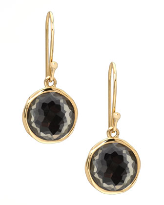 Pyrite Lollipop Earrings, Mini