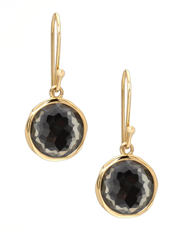 Pyrite Lollipop Earrings, Mini