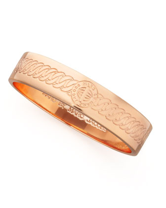 Engraved Turnlock Bangle, Rose Golden