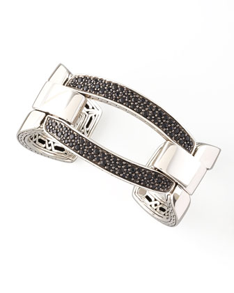 Black Sapphire Classic Chain Link Cuff
