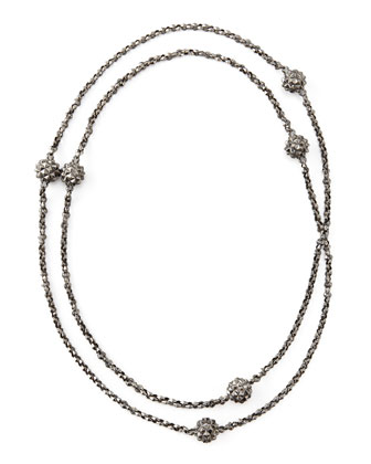 Superstud Ball-Station Necklace, 48