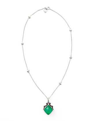 Crystal Haze Pendant Necklace, Green