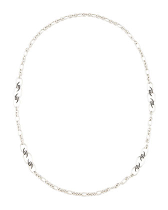Black Sapphire Knot Necklace, 37