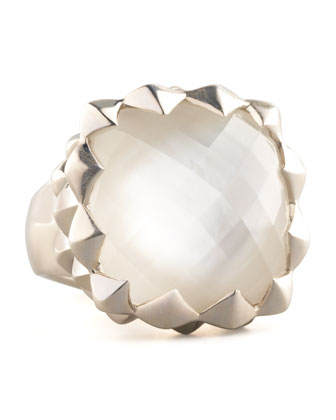 Superstud Mother-of-Pearl Ring