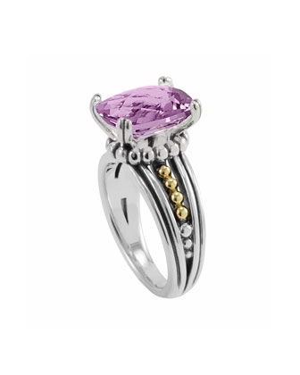 Silver Prism Ring, Amethyst
