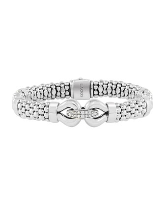 Derby Pave Diamond Rope Bracelet, 9mm