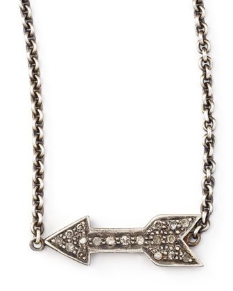 Diamond Arrow Pendant Necklace, 26