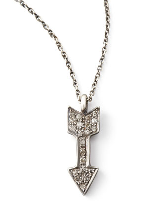 Diamond Arrow Pendant Necklace, 18