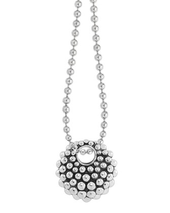 Bold Caviar Pendant Necklace, Medium