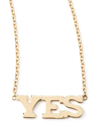Yes Necklace, Gold