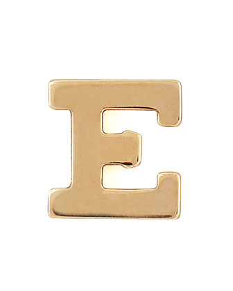 Gold Single Initial Earring