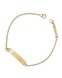 Zoe Chicco Personalized Gold ID Bracelet