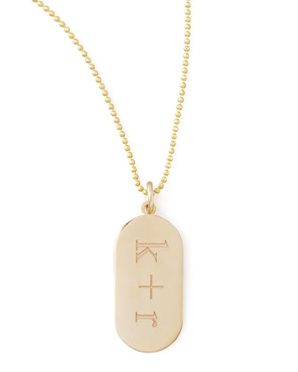 Initial Gold Pendant Necklace