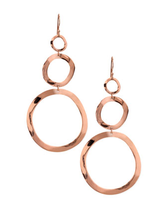 Rose Triple-Drop Earrings