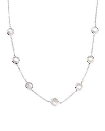 Seven-Station Lollipop Necklace, Mother-of-Pearl