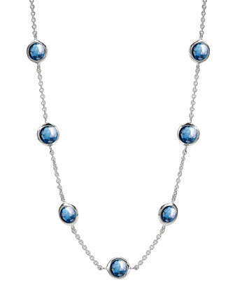Seven-Station Lollipop Necklace, London Blue Topaz