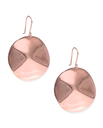 Rose Wavy Disc Earrings
