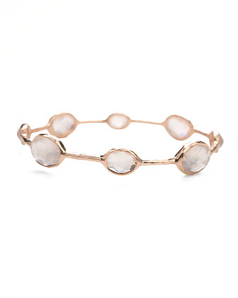 Rose Clear Quartz Station Bangle