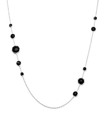 Octagonal Onyx Station Necklace