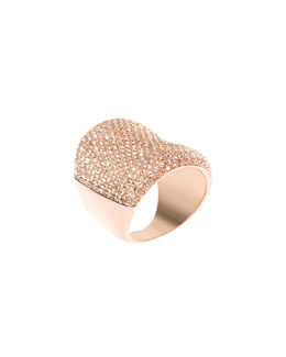 Michael Kors  Concave Pave Ring,Rose Golden
