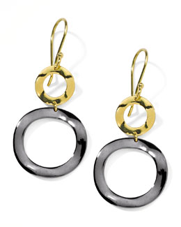 Ippolita Small Notte Snowman Drop Earrings