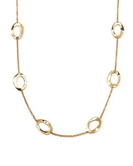 Ippolita Wavy Open-Oval Chain Necklace