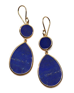 Ippolita Rock Candy Snowman Earrings, Lapis